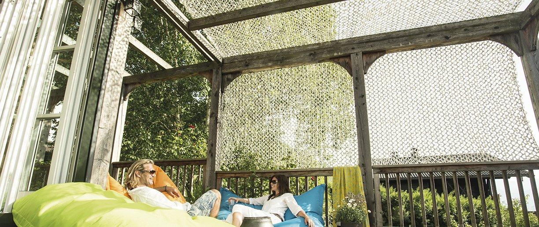 Soliday CHILLsail auf Balkon geschlossen