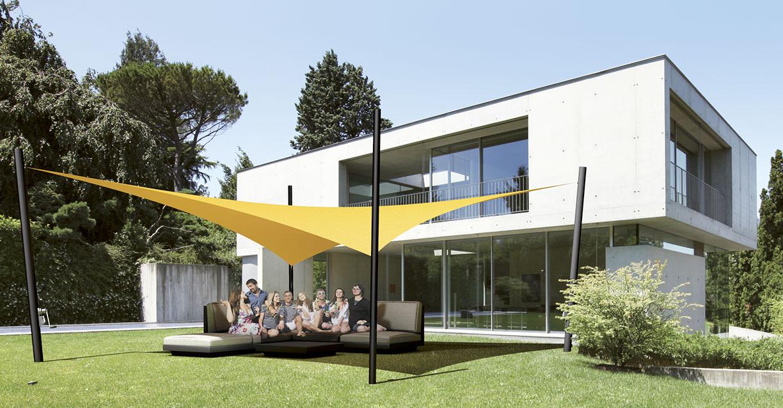 3D Soliday Sonnensegel im Garten